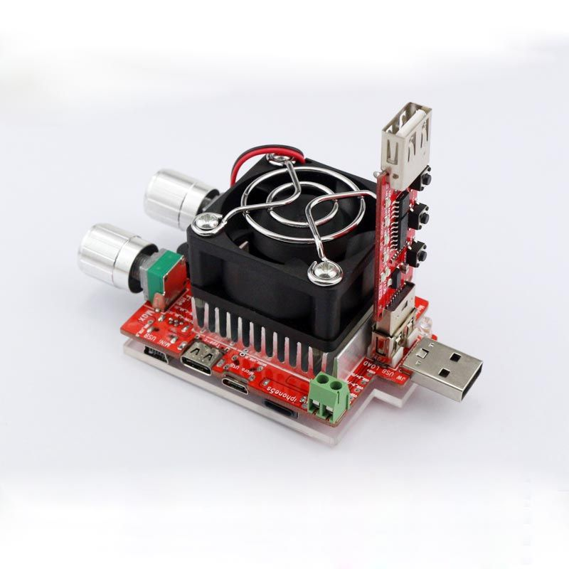 35 w courant constant réglable double charge électronique + QC2.0/3.0 déclenche rapide tension testeur usb voltmètre vieillissement décharge