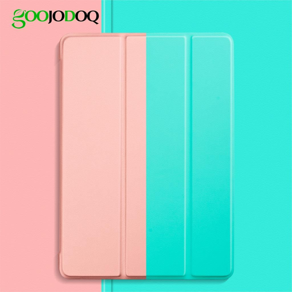 GOOJODOQ for iPad 2018 Case 9.7 Air 2 Air 1 5 6 Case Funda Slim TPU Silicone Shell Smart Cover for ipad 6th generation Case