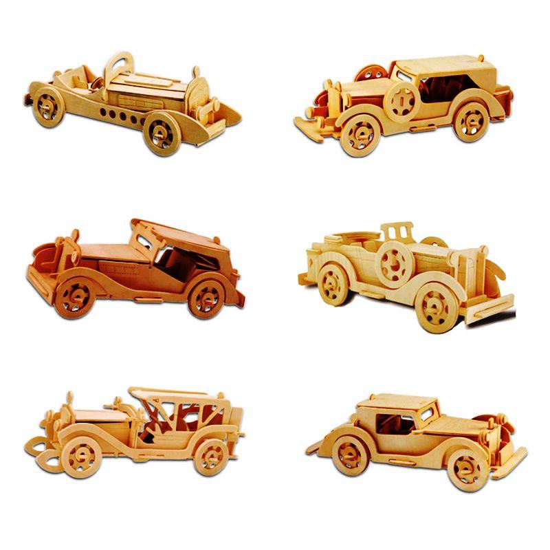 Un Jouets Pour Enfants 3d Puzzle En Bois Bricolage Puzzle Classique Voitures Enfants Jouets Convient Également Jeu Adulte Cadeau De bois De haute Qualité