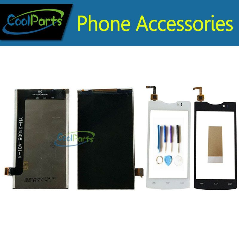 1PC/Lot High Quality For Micromax D320 D 320 YH-S4503-HL-V01 LCD Display Screen+Touch Screen Digitizer With Tools&Tape