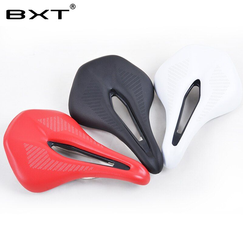 2018 new Cycling Saddle MTB Seat Mountain Road Bike leather Saddle cushion Soft <font><b>Bicicleta</b></font> Asiento bicycle parts Accessories