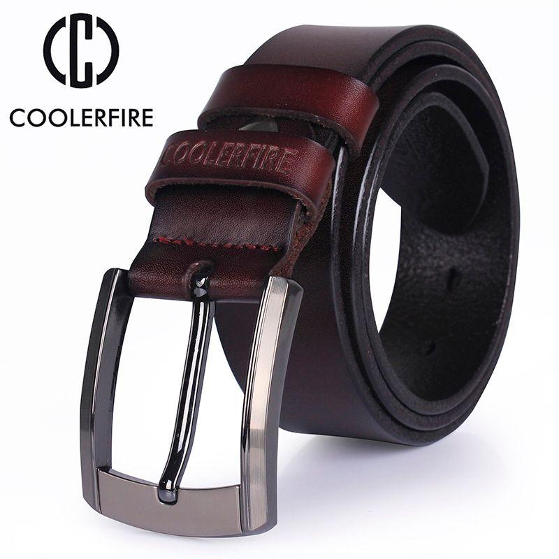 Hommes haute qualité véritable ceinture en cuir de luxe designer ceintures hommes cowskin mode Sangle mâle Jeans pour homme cowboy livraison gratuite