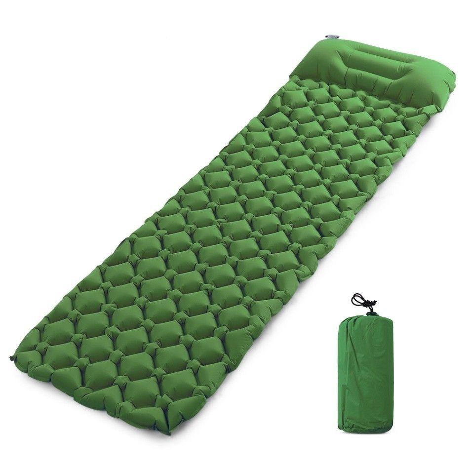 Matelas gonflable de pique-nique de matelas d'air de tapis de plage avec le coussin de sac de couchage d'oreiller