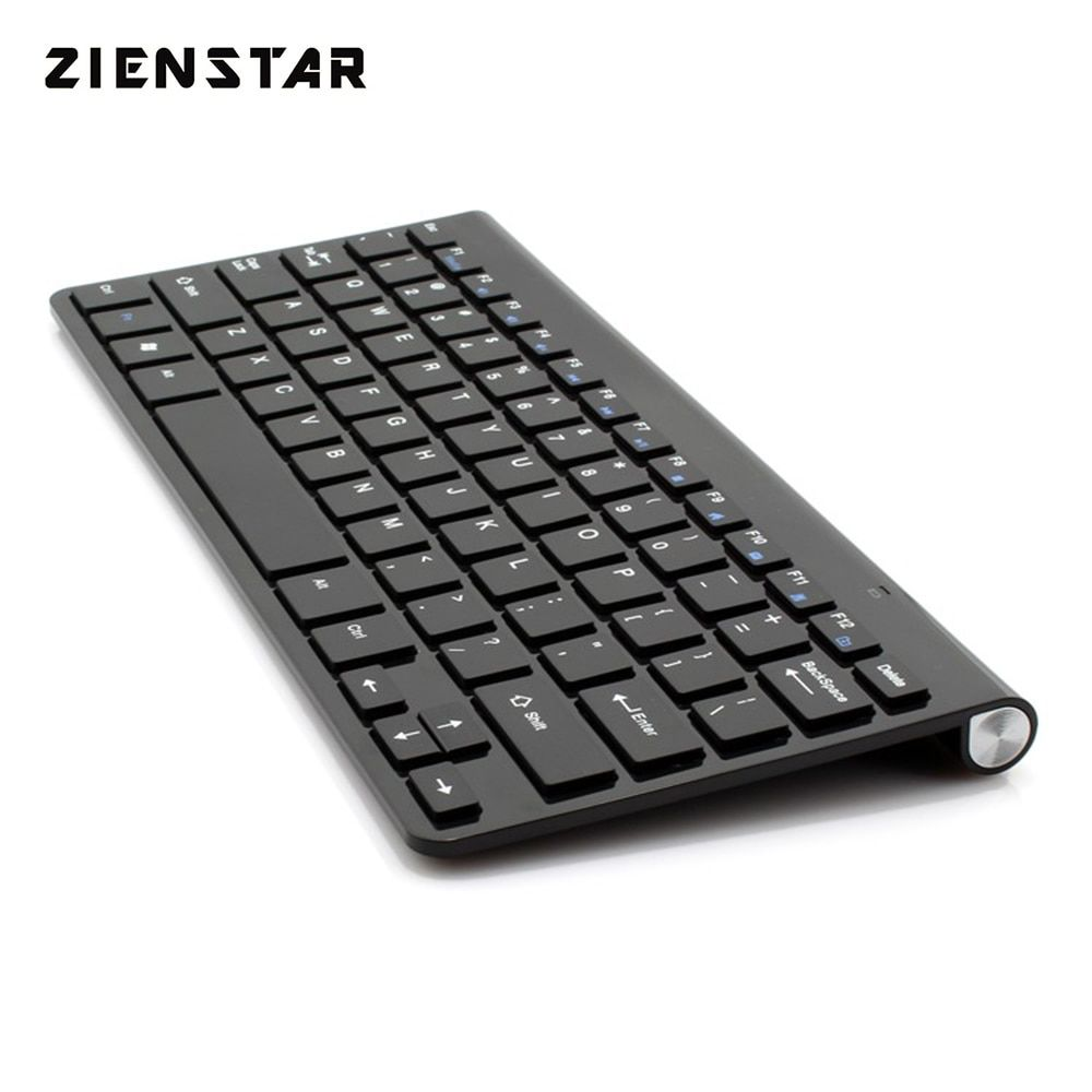Zienstar Ultra Slim 2.4G Wireless Keyboard /Bluetooth keyboard for Ipad,MACBOOK,LAPTOP,Computer PC and Android Tablet
