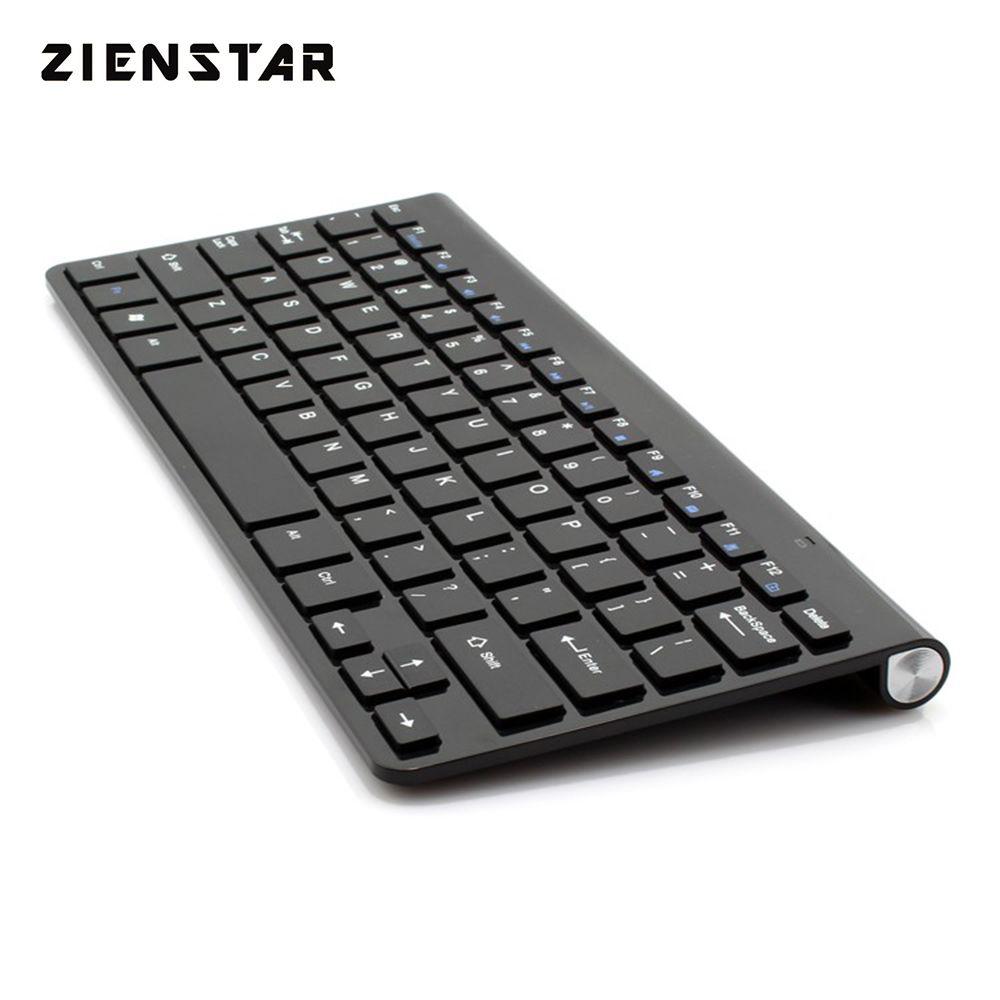 Clavier sans fil 2.4G Ultra mince Zienstar pour Ipad, MACBOOK, ordinateur portable, ordinateur PC et tablette Android