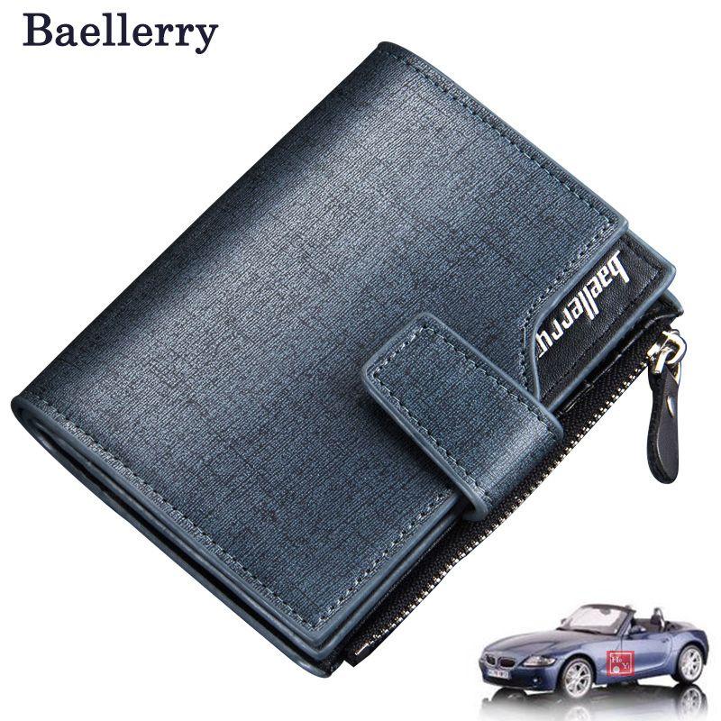 Men wallets zipper wallet men Microfiber leather fashion Top quality male purse wallet women short  trifold  Wholesale Price !