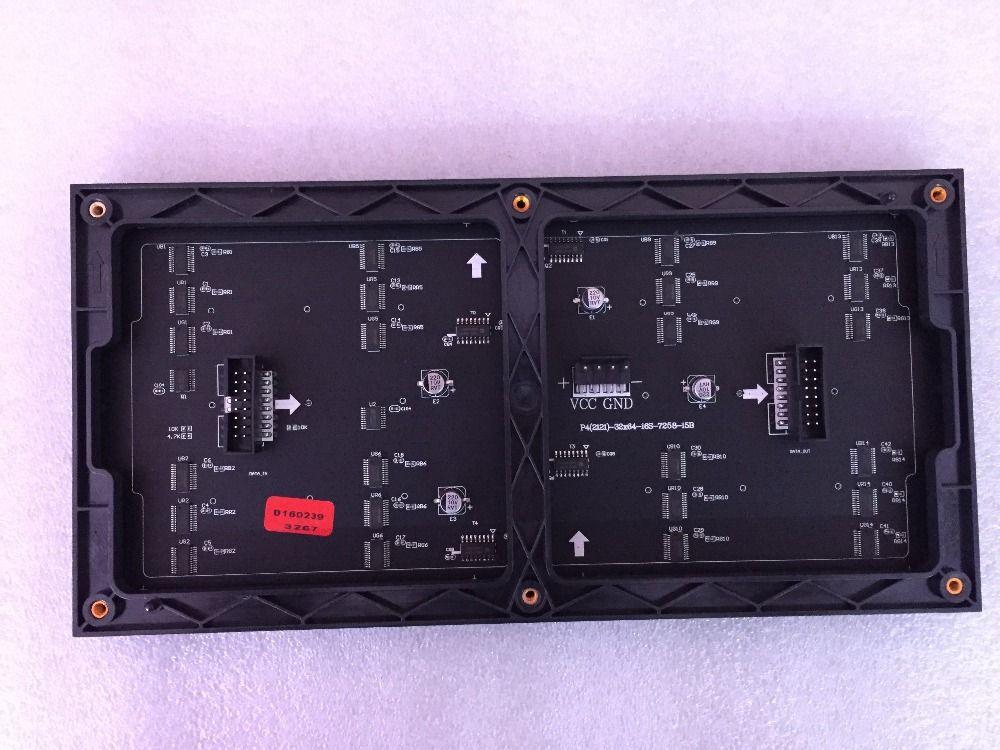 64x32 intérieur RGB hd p4 intérieur led module mur vidéo haute qualité P2.5 P3 P4 P5 P6 P7.62 P8 P10 rgb module pleine couleur led affichage