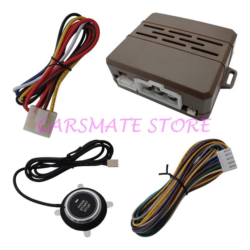 Smart Car Engine Push Start System Compatible with Original Car Alarm W Remote Start Function for All DC 12V Cars Carsmate