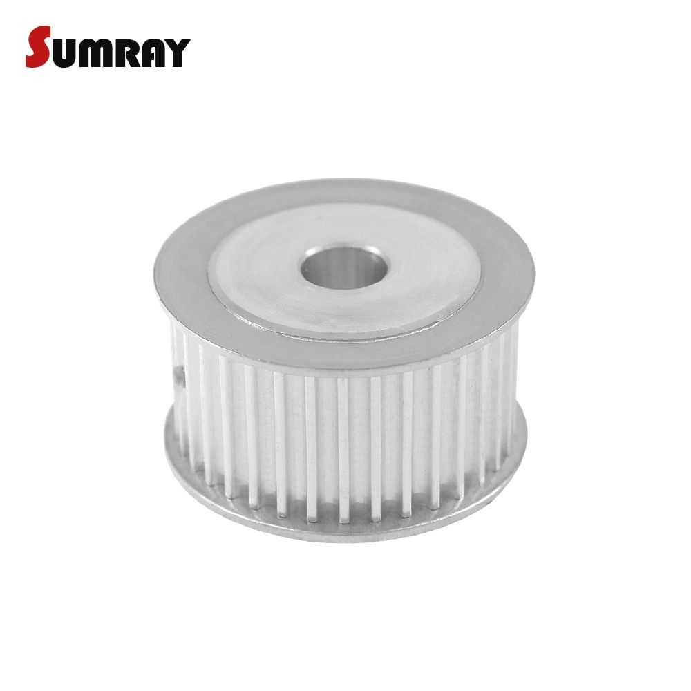 SUMRAY 3M 36T Timing Belt Pulley 5/6/8/10/12/15/17mm Bore Thoothed Belt Pulley 16mm Belt Width 3mm Pitch For HTD 3M Timing Belts