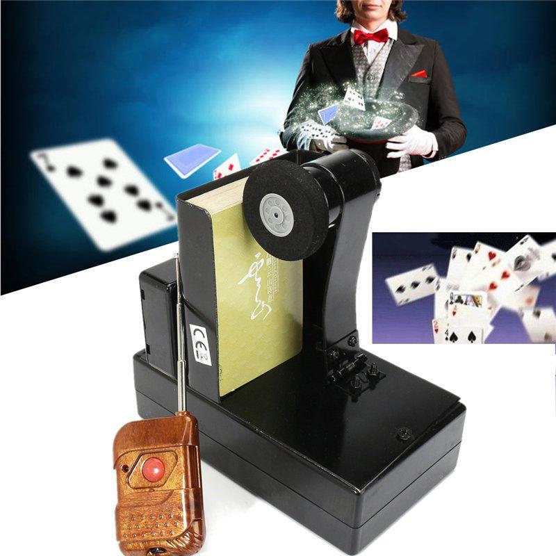 Настольные игры Дистанционное управление фонтан карты фокус Металл этап магии реквизит Дистанционное управление спрей карт устройств Вол...