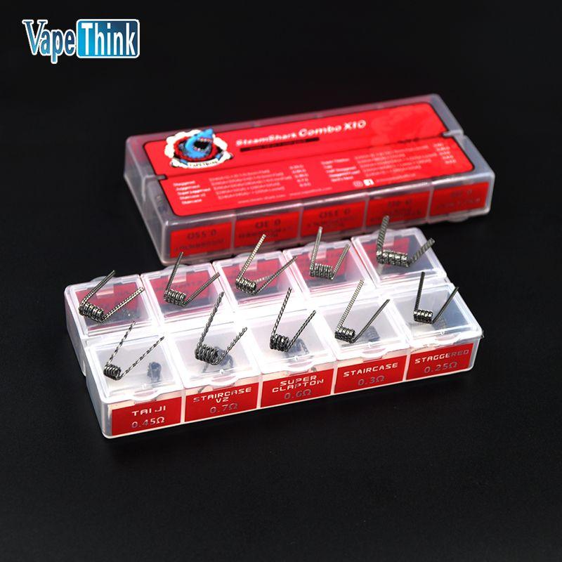 Vapethink electronic cigarette coil prebuild 10 in 1 mini combo x10 wire coil 10 types vape DIY For Vaporizer rda atomizer