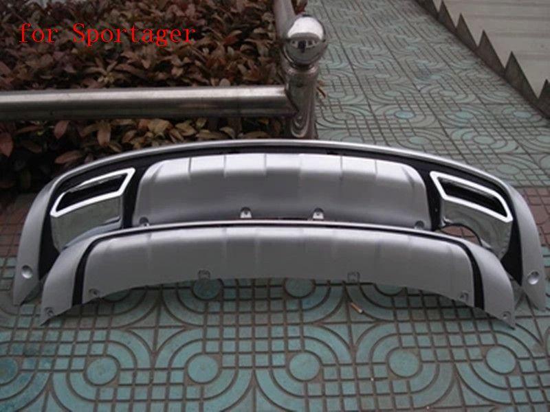 ABS Chrome Front+Rear bumper cover trim plastic  Bumper bars front and rear bumper for 2011-2016 Kia Sportager