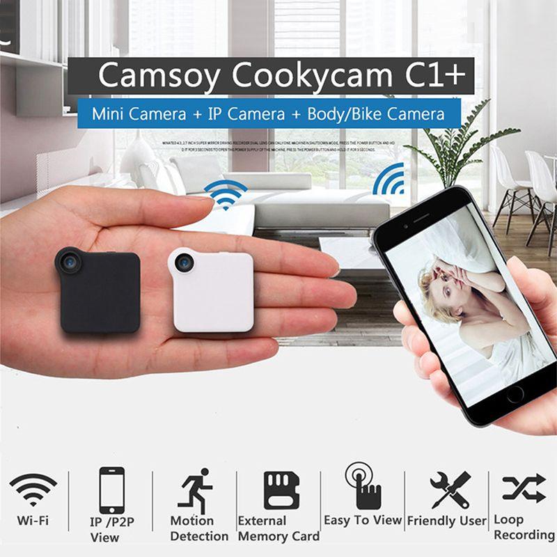 C1+ C1 Mini Camera HD 720P C1 WIFI P2P Wearable IP Camera Motion Sensor Bike Body Micro Mini DV DVR Magnetic Clip Voice Recorder