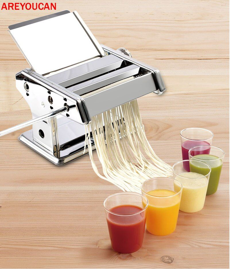 0.5 - 3mm Manual Cutting Thicknesses Pasta Make Roller Machine Dough Fresh Noodle Making Kitchen Removable press Noodle Maker