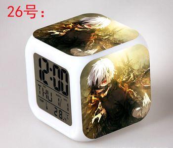 Japanese Anime Tokyo Ghoul LED 7 Color Flash Digital Alarm Clocks Kids Night Light Bedroom Clock reloj despertador