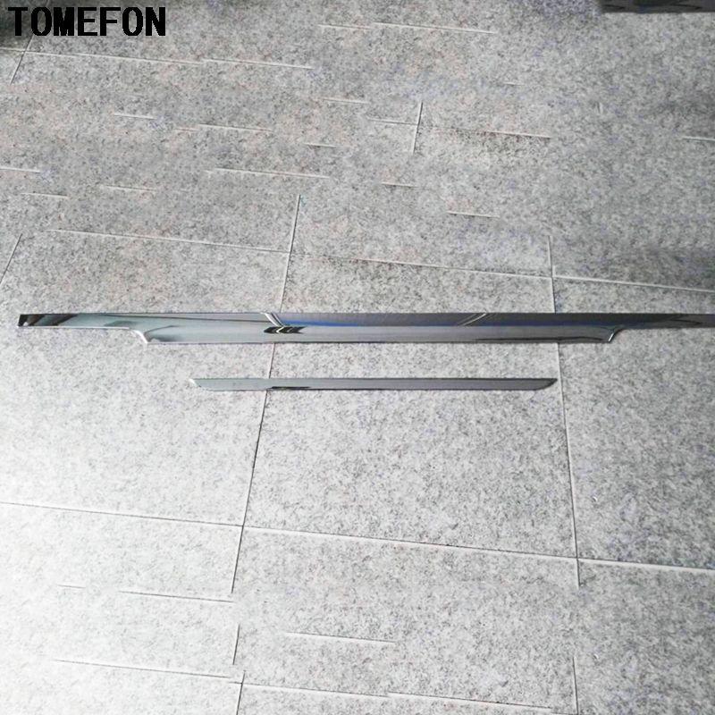 TOMEFON Auto Styling For Benz VITO Viano V-Class Valente Metris 2014-2017 ABS Chrome Rear Box Door Tail Gate Liftgate Bar Trim