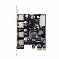 4 порта PCI-E для USB 3,0 концентратор PCI Express Expansion Card Adapter 5 Гбит/с скорость для настольного компьютера компоненты абсолютно новый