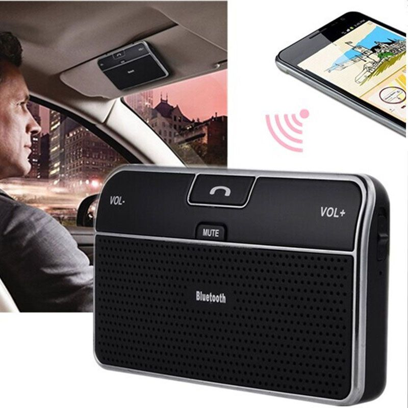 Wireless Bluetooth Car Kit Set Handsfree Speakerphone V4.0 Multipoint Sun Visor Speaker for Phone Smartphones Car Charger