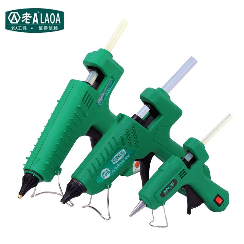 LAOA 25W/60W/<font><b>100W</b></font>/150W Hot Melt Glue Gun Professional pistolet a colle Mini For Metal/Wood Working Stick Paper Hairpin PU Flower