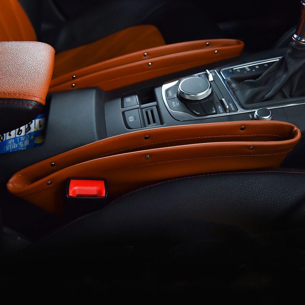 1PC Central Container Box Storage Bag Car Seat Organizer Auto Seat Gap Filter Pocket Accessories for bmw e46 e39 peugeot 3008 vw