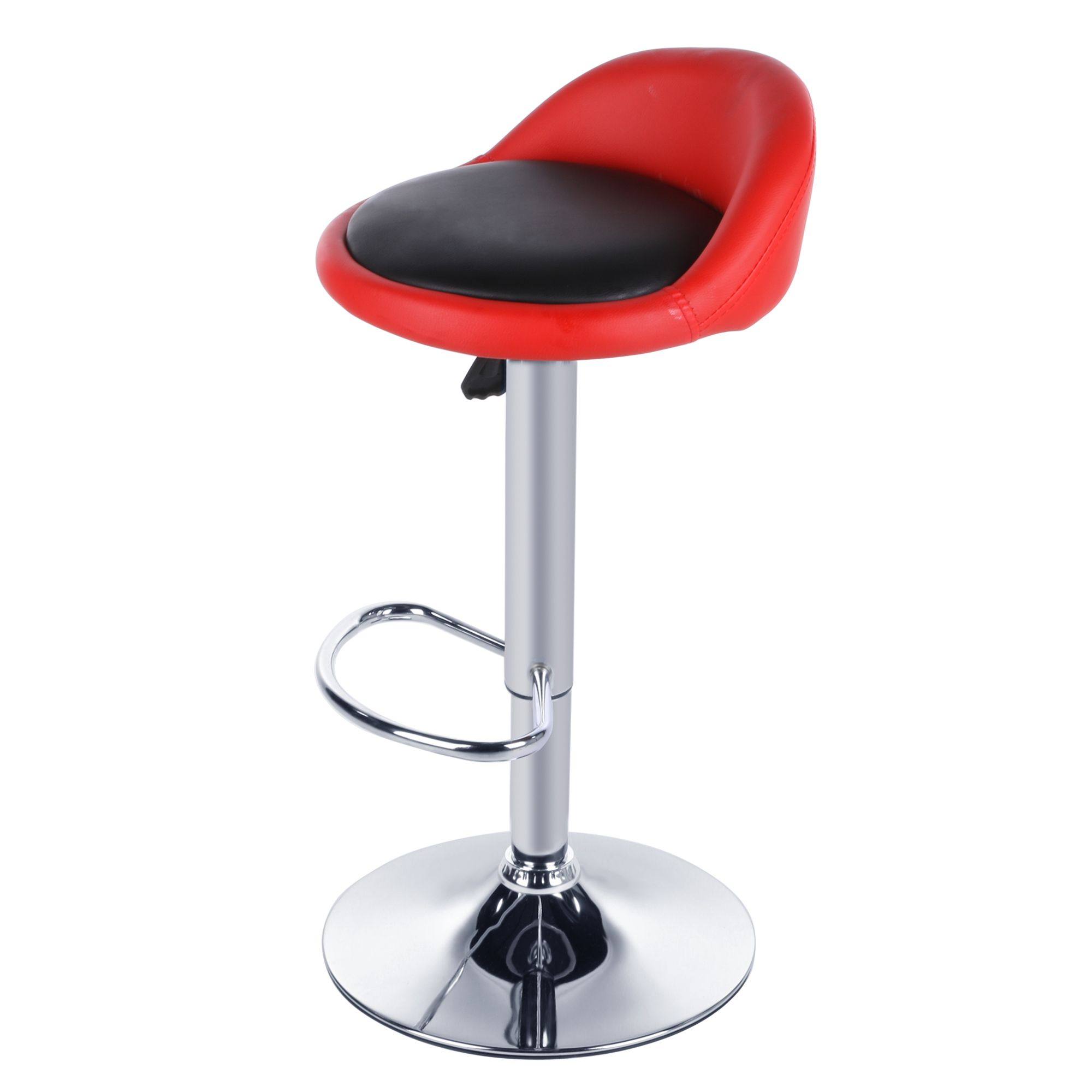 Homdox 2pcs Synthetic Leather Rotating Adjustable Height Bar Stool Chair Stainless Steel Stent 4 Colors  N1525