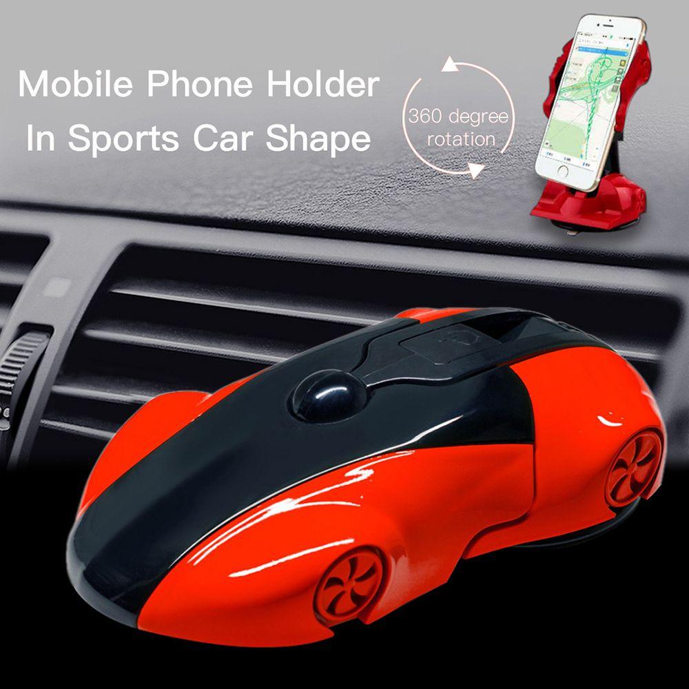 Support universel de voiture pour téléphone portable 360 degrés Rotation voiture de sport modèle de support de téléphone pour smartphone 3.5-6 pouces