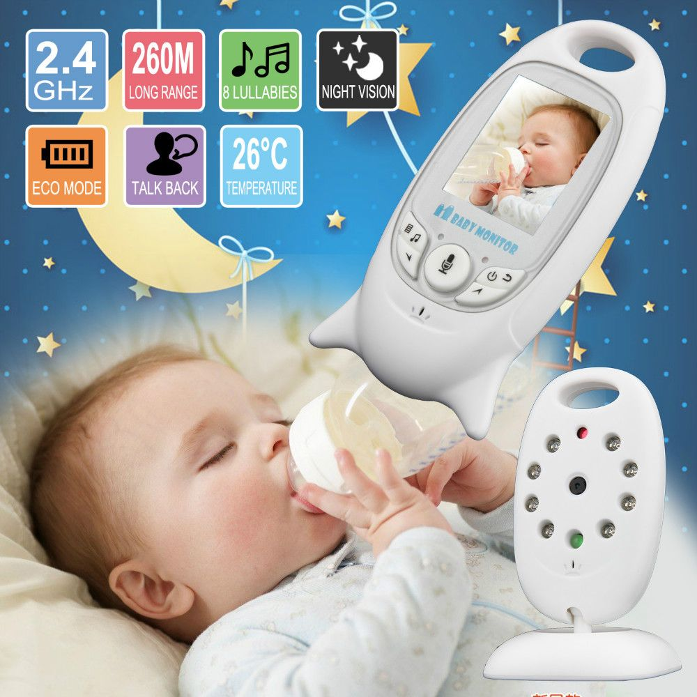 Baby Sleeping Monitor <font><b>Color</b></font> Video Wireless with camera baba electronic Security 2 Talk Nigh Vision IR LED Temperature Monitoring