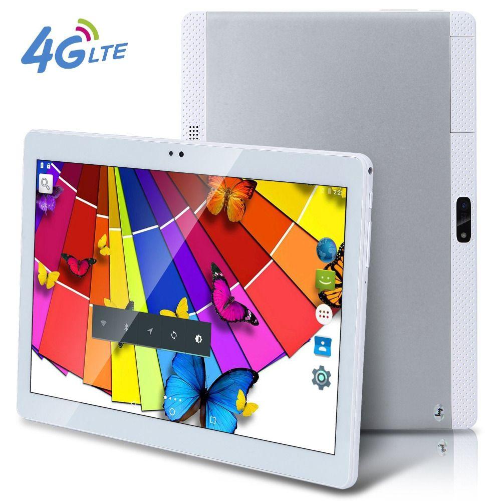 Freies Verschiffen DHL 10 Zoll Tablet PC 3G 4G Lte Octa-core 4 GB RAM 32 ROM Dual SIM 8.0MP Android 6.0 GPS 1920*1200 HD IPS 8.0MP Cam