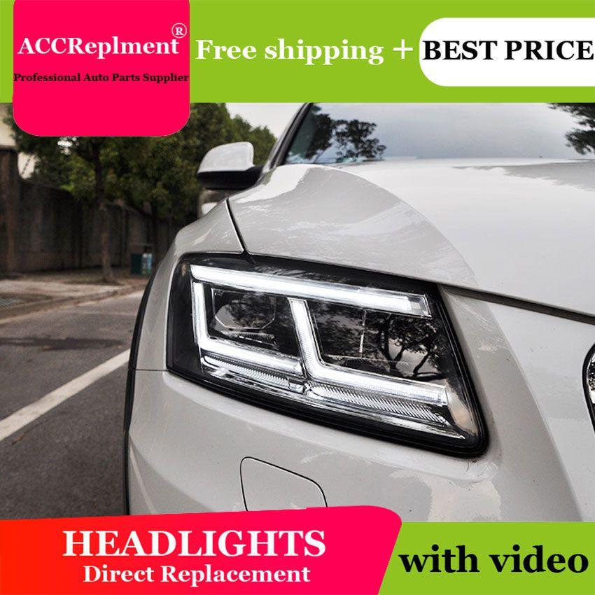 Auto Styling für Audi Q5 Scheinwerfer 2009-2018 Q5 LED Scheinwerfer DRL Objektiv Doppel Strahl H7 HID-Xenon-bi xenon objektiv
