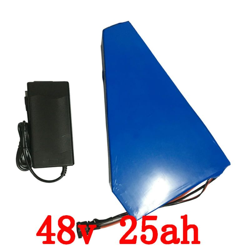 US EU no tax 48v 25Ah 2000w Lithium Battery Pack with Charger Built in 50A BMS Electric Bicycle Battery 48v Free Shipping