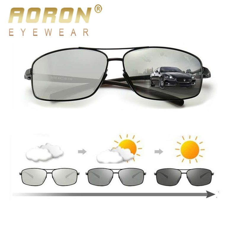 Lunettes de soleil photochromiques polarisées AORON lunettes de soleil pour hommes UV400