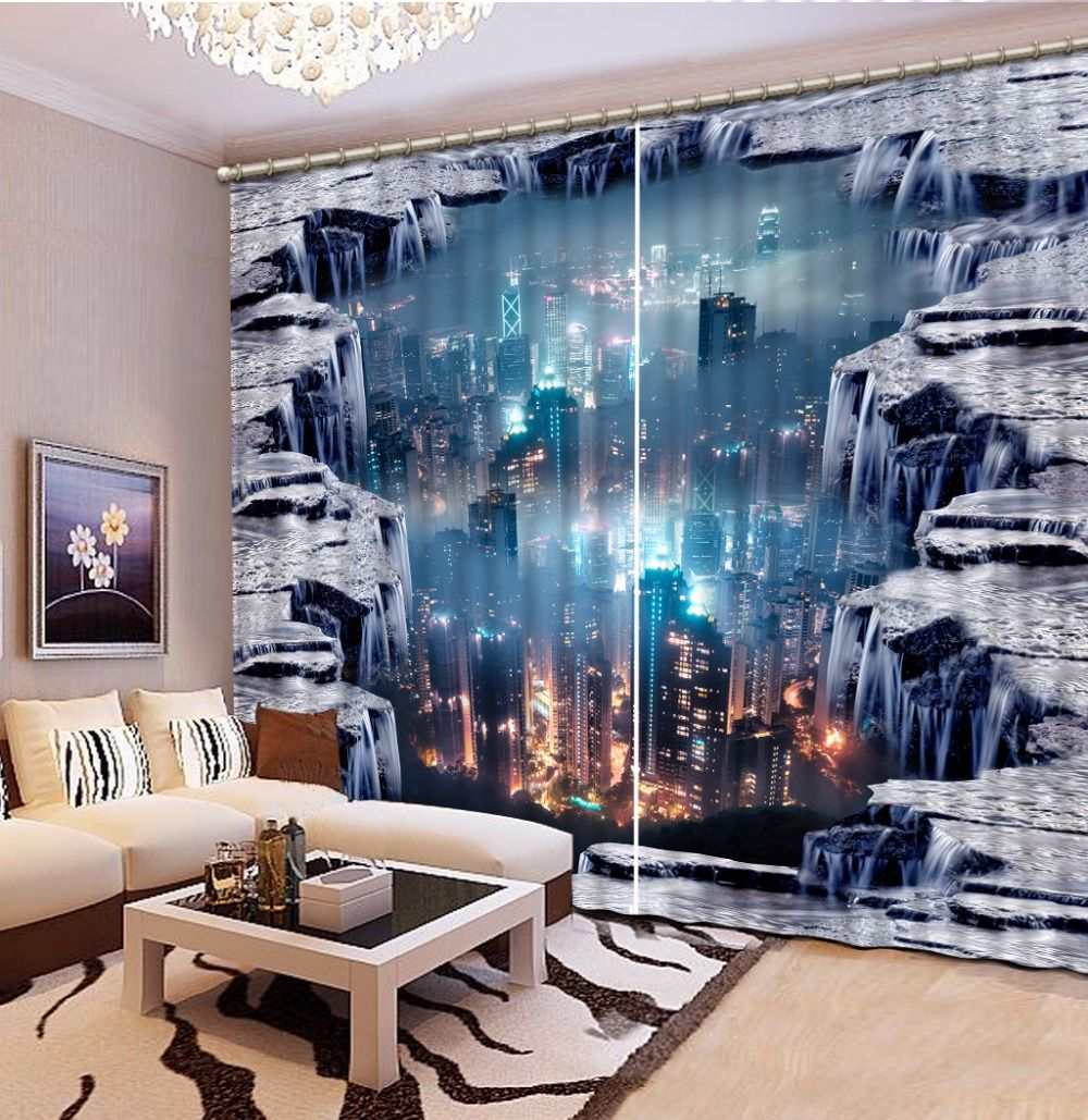 Luxury 3D Blackout Window Curtains For Living room Kids Bedroom Drape Office Hotel Wall Tapestry cortinas dormit Home Decoration