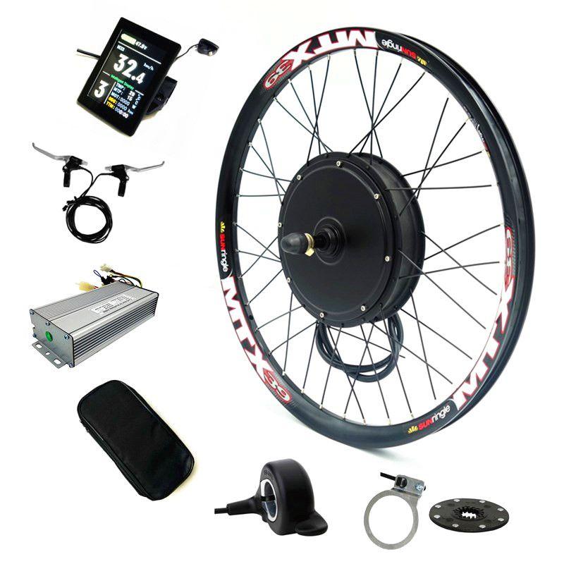 Farbe Display bicicleta electrica Elektrische Bike Conversion Kit 52 v 2000 watt Hinten Motor rad Fahrrad Kit mit 52 v 17.5Ah Batterie
