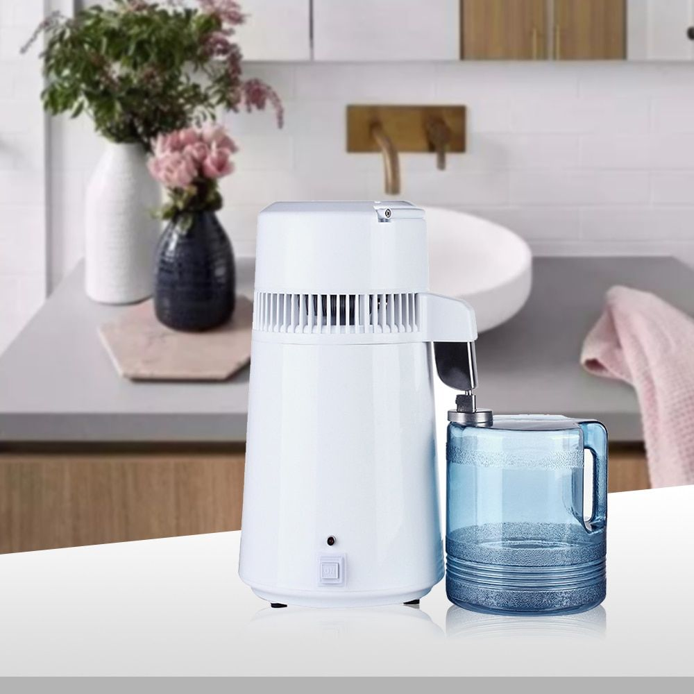4L Home Pure Water Distiller Filter Machine Dental Water Distilled Distillation Purifier Equipment Stainless Steel Plastic Jug