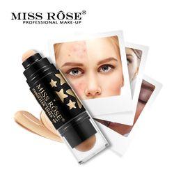 Mlle Rose Double Tête Éponge Stick Correcteur Naturel Éclairer Blanchiment Visage Base de Maquillage Fondation Crème