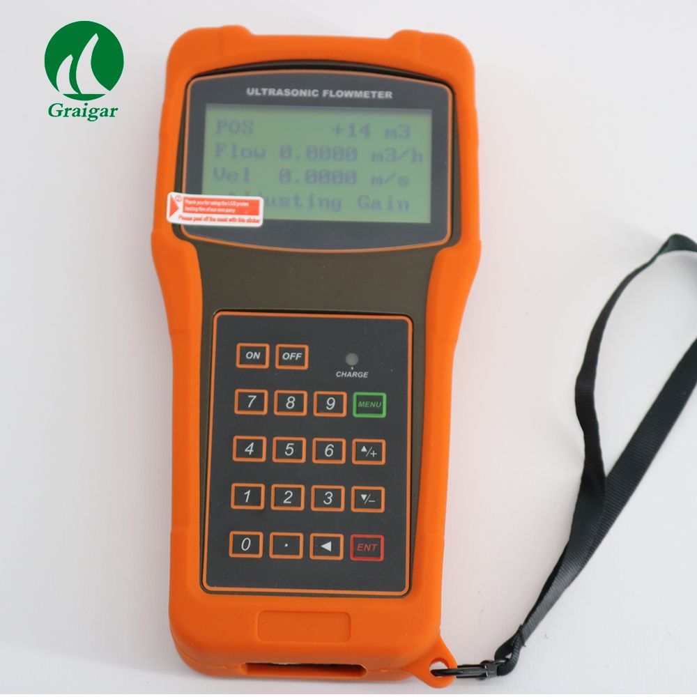 Portable Ultrasonic Flow Meter TUF-2000H with TM-1 Transducer DN50-700mm Handheld Flowmeter