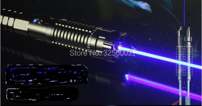 Most Powerful 1000000m 450nm High Power Blue Laser Pointers Flashlight Burn Match Candle Lit Cigarette Wicked LAZER Torch