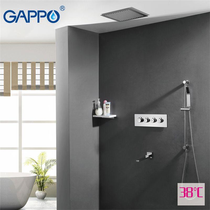 GAPPO dusche wasserhahn becken waschbecken wasserfall armaturen dusche mischbatterie bad wasserhahn mischer Niederschläge bad wasserhähne thermostat Sensor Fauce