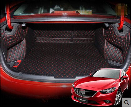 High quality! Special trunk mats for Mazda 6 2018 waterproof boot carpets cargo liner mats for Mazda 6 2017-2014,Free shipping
