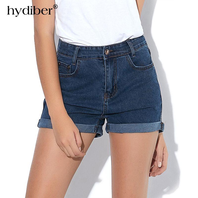 HYDIBER Nouvelle Mode femmes de jeans D'été Taille Haute Stretch Short En Jean Slim Coréenne Casual femmes Jeans Shorts Hot Plus taille