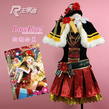 LoveLive! Choir Red Christmas Dress Awakening Honoka Kotori Nozomi Umi Cosplay Costume Halloween Uniform Party Outfit