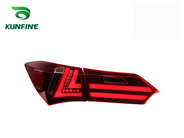 KUNFINE Pair Of Car Tail Light Assembly For TOYOTA COROLLA 2014 2015 2016 LED Brake Light With Turning Signal Light