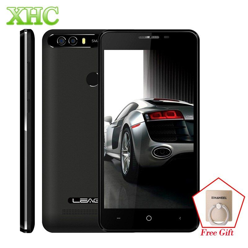 LEAGOO origine KIICAA PUISSANCE Smartphone 2 GB/16 GB Double Caméras Arrière D'empreintes Digitales 5.0 ''Android 7.0 MTK6580A Quad Core 3G Téléphone Portable
