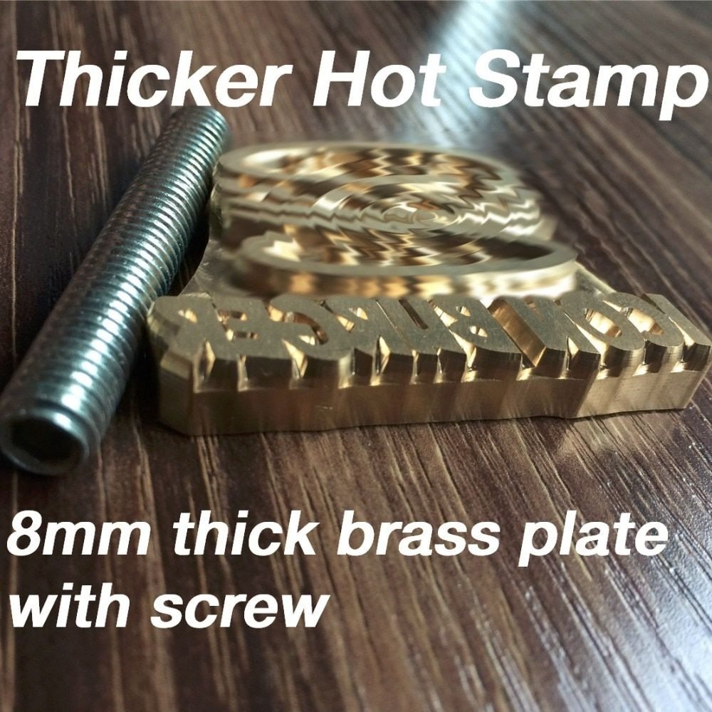 2.0 Thicker Customize Hot Brass Stamp Iron Mold,Personalized Mold heating on Wood/Leather,league DIY gift,Custom Design