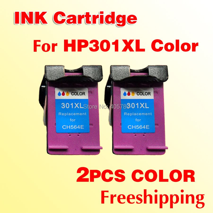 2x HP301 Color INK cartridge compatible for HP 301 301XL Deskjet 1000 1050 2000 2050 J410a J510a