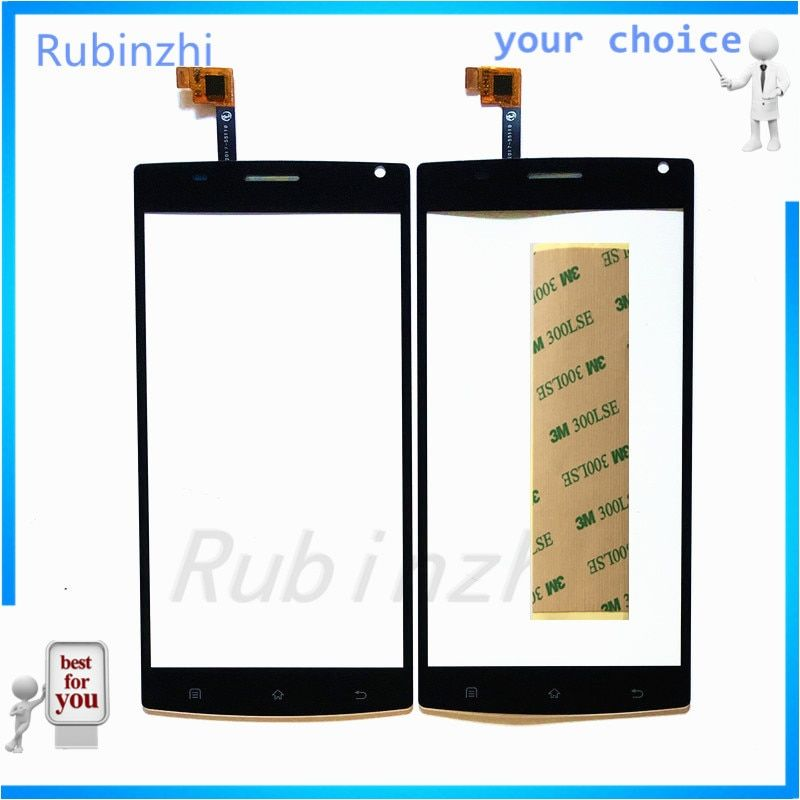 RUBINZHI Phone Touch Screen Panel For MegaFon MFLoginPh Login Plus Touchscreen Digitizer Front Glass Replacement Sensor+tape