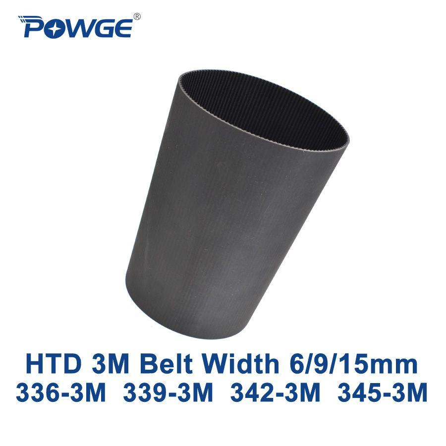 POWGE HTD 3 Mt zahnriemen C = 336 339 342 345 breite 6/9/15mm Zähne 112 113 114 115 HTD3M synchron 336-3 Mt 339-3 Mt 342-3 Mt 345-3 Mt