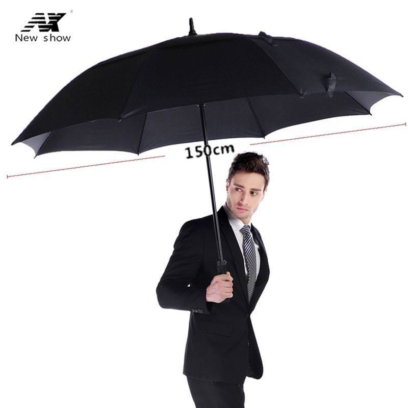 NX golf umbrella men strong <font><b>windproof</b></font> Semi automatic long umbrella large man and women's Business umbrellas mens Custom logo