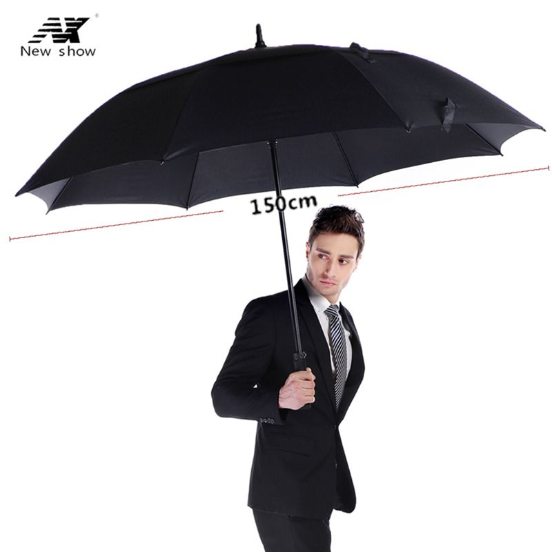 NX golf umbrella strong windproof Semi automatic long umbrella large Outdoor man and women's Business umbrellas Custom logo