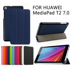 Kasus Untuk Huawei MediaPad T2 7.0 Tablet Pelindung Smart cover Faux Kulit Untuk HUAWEI BGO-DL09 BGO-L03 + GRATIS HADIAH